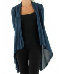 Gilet manches longues bleu canard Medi Mode