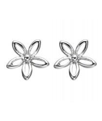 Boucles d'oreilles petite fleur argent