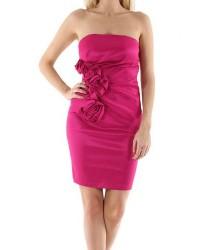 Robe de soirée bustier fushia Pink Boom