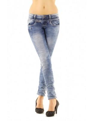 Jean slim taille basse
