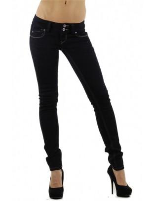 Jean slim noir taille basse Blue Rags