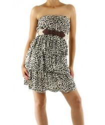 Robe bustier léopard