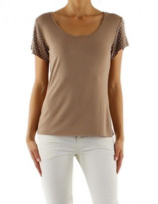 T-shirt avec perles FEMININE