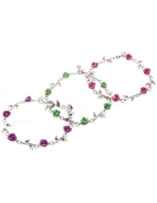 Bracelet fantaisie roses