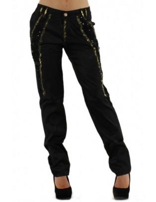 Pantalon noir et doré Rosa