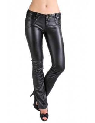 Pantalon noir en skai