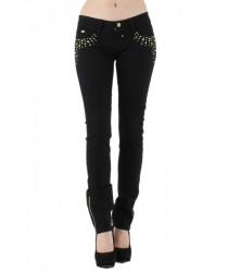 Jean noir et strass dorés