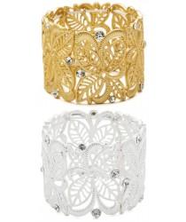 Bracelet strass doré ou blanc