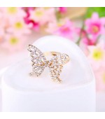 Bague papillon strass