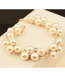 Bracelet fantaisie perles et strass