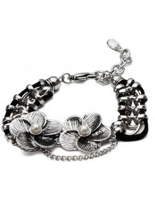 Bracelet fleurs plaqué argent